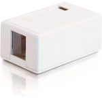 1-Port Keystone Jack Surface Mount Box - White - 1 x Socket(s) - White