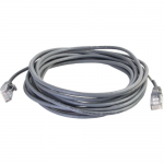 15ft Cat5e Snagless Unshielded (UTP) Slim Network Patch Cable - Gray - Slim Category 5e for Network Device - RJ-45 Male - RJ-45 Male - 15ft - Gray