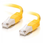100ft Cat5e Snagless Shielded (STP) Ethernet Network Patch Cable - Yellow - Patch cable - RJ-45 (M) to RJ-45 (M) - 100 ft - STP - CAT 5e - molded stranded - yellow