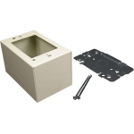Wiremold 2400 Single Gang Extra Deep Device Box Fitting - Cable raceway device box fitting - ivory
