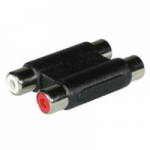 RCA Stereo Audio F/F Coupler - Audio coupler - RCA (F) to RCA (F) - black