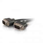 CMG-Rated DB9 Low Profile Null Modem M-M - Null modem cable - DB-9 (M) to DB-9 (M) - 3 ft - molded thumbscrews - black