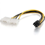 10in One 6-pin PCI Express to Two 4-pin Molex Power Adapter Cable - 10 inch