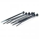 6in Cable Ties - Black - 100pk - Black - 100 Pack