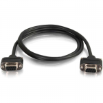 35ft CMG-Rated DB9 Low Profile Null Modem F-F - Serial - 35 ft - 1 x DB-9 Female Serial - 1 x DB-9 Female Serial - Shielding - Black
