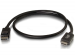 6ft DisplayPort Male to HD Male Adapter Cable - Black - DisplayPort/HDMI for Notebook TV Projector Audio/Video Device - 6 ft - 1 x DisplayPort Male Digital Audio/Video - 1 x HDMI Male Digital Audio/Video - Black
