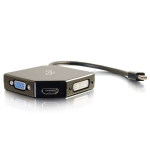 Mini DisplayPort to HDMI VGA or DVI Adapter Converter - Video converter - DVI HDMI VGA - DVI HDMI VGA - black