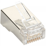 Box CAT6 Value Line Modular Plug Shielded 50-Pak - 50 Pack - 1 x RJ-45 Male - Gold-plated Contacts