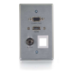 SINGLE GANG HDMI/VGA/3.5MM/KEYSTONE RRO