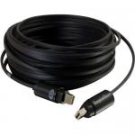 RapidRun 25ft Optical Runner Cable - Plenum OFNP-Rated - Video / digital audio cable (optical) - RapidRun optical (M) to RapidRun optical (M) - 25 ft - fiber optic - black - plenum 4K support