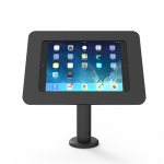 RISE WITH UNIVERSAL ROKKU ENCLOSURE. THE NEW KIOSK STAND WITH VESA MOUNT FLIP&SWIVEL WITH CABLE MANAGEMENT - 20 CM HEIGHT BLACK