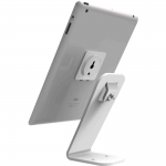 SECURITY STAND - UNIVERSAL DISPLAY LOCKABLE TABLET STAND FOR ANY TABLET OR SMARTPHONE INCLUDES ADHESIVE STEEL PLATE AND 6 inch HIGH STAND