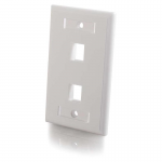 Premise Plus Multimedia Keystone Wall Plate - Mounting plate - white - 1-gang - 2 ports