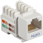Box CAT5e Value Line Keystone Jack White 25-Pack - 25 Pack - 1 x RJ-45 Female - Gold-plated Contacts - White