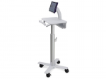 StyleView Tablet Cart SV10 - Cart for tablet / keyboard - medical - metal - white aluminum - screen size: up to 12 inch