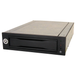 Data Express DX115 DC Drive Enclosure - Black - 1 x Total Bay - 1 x 2.5 inch /3.5 inch Bay - Cooling Fan