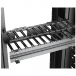 Cooper B-Line RCM+ SB870 - Rack cable management kit with cover - flat black - 2U - 19 inch