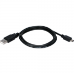 USB 2.0 Type A Male to Mini B Male Sync and Charger Cable - USB for PDA Tablet PC - 1 ft - 1 x Type A USB - 1 x Mini Type B USB - Black