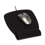 Foam Mouse Pad Wrist Rest - Mouse pad with wrist pillow - black