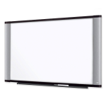 Wide Screen Style Melamine Dry Erase Board - 72 inch (6 ft) Width x 48 inch (4 ft) Height - Aluminum Frame - 1 / Each