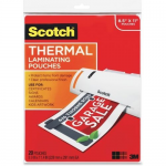 Scotch - Glossy - 20-pack - clear - 8.98 in x 11.46 in lamination pouches