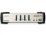 4-PORT USB2.0 KVMP SWITCH WITH AUDIO SUPPORT, CABLES INCLUDED, USB 2.0 PERIPHERA