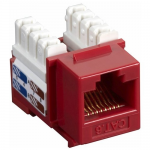 Box AT6 Value Line Keystone Jack Red - 1 x RJ-45 Female - Gold-plated Contacts - Red