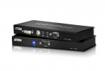 KVM Console/Extender - 1 Computer(s) - 196.85 ft Range - 2 x Network (RJ-45) - 3 x USB - 2 x DVI - Rack-mountable