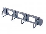 2U Horizontal Cable Organizer - Cable Manager - Black - 2U Rack Height
