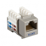 Box CAT6 Value Line Keystone Jack Gray - 1 x RJ-45 Female - Gold-plated Contacts - Gray