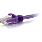 Cat5e Snagless Unshielded (UTP) Network Patch Cable - Patch cable - RJ-45 (M) to RJ-45 (M) - 10 ft - UTP - CAT 5e - molded snagless stranded - purple
