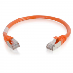 6in Cat6 Snagless Shielded (STP) Ethernet Network Patch Cable - Orange - Patch cable - RJ-45 (M) to RJ-45 (M) - 6 in - screened shielded twisted pair (SSTP) - CAT 6 - molded snagless stranded - orange