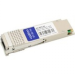 QSFP+ transceiver module (equivalent to: Dell 407-BBYS) - 40 Gigabit LAN - 40GBASE-SR4 - MPO multi-mode - up to 492 ft - 850 nm - TAA Compliant - for Dell Force10 MXL blade