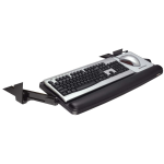 Adjustable Under-Desk Keyboard Drawer - 25 inch x 10 inch - Charcoal Gray