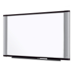 Wide Screen Style Melamine Dry Erase Board - 48 inch (4 ft) Width x 36 inch (3 ft) Height - Aluminum Frame - 1 Each