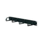 1U Horizontal Cable Organizer - Cable Manager - Black - 1U Rack Height