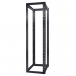 Schneider Electric NetShelter 4 Post Open Frame Rack 44U Square Holes - 19 inch 44U Wide Floor Standing - Black - 2004.20 lb x Static/Stationary Weight Capacity