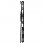 Vertical Cable Manager for NetShelter SX 750mm Wide 42U (Qty 2) - Cable Pass-through - Black - 2 Pack - 42U Rack Height