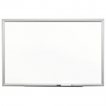 Premium Porcelain Dry Erase Board - 72 inch Width x 48 inch Height - White Porcelain Surface - Aluminum Frame - Film - 1 Each