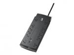 Performance SurgeArrest - Surge protector - AC 120 V - output connectors: 12 - 6 ft - black