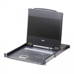THE DVI FULL HD LCD CONSOLE IS A SINGLE RAIL KVM CONSOLE FEATURING A 17