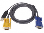USB KVM Cable 10-inch PS/2 to USB Intelligent KVM Cable