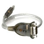 USB to RS-232 Converter - Type A Male USB DB-9 Male Serial - 1.3ft