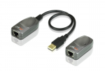 CAN EASILY SEND THE USB SIGNALS VIA CAT.5/5E/6 CABLE UP TO 60 METERS (196
