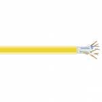 Box CAT5e Value Line Solid Cable, CM, 1000-ft. (304.8-m) , Yellow - Category 5e for Network Device - 1000 ft - 1 Pack - Bare Wire - Bare Wire - Yellow