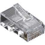 Box CAT5e Value Line Modular Plug Unshielded 100-Pak - 100 Pack - 1 x RJ-45 Male - Gold-plated Contacts