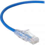 3FT BLUE CAT6A SLIM 28AWG PATCH CABLE 500MHZ UTP CM SNAGLESS
