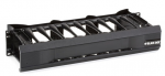 HORIZONTAL 19IN IT RACKMOUNT CA BLE MANAGER 2U SINGLE-SIDED BLACK