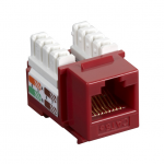 Box CAT5e Value Line Keystone Jack Red - 1 x RJ-45 Female - Gold-plated Contacts - Red