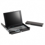 1-PORT 17IN LCD CONSOLE DRAWER WITH KVM SWITCH